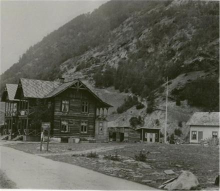 Garden Ottekren på Otta rundt 1900.